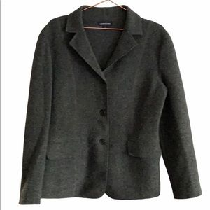 3/$30 Lands End Grey Wool Blazer Size 10